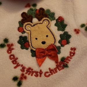 EUC 0-3 mo Baby's First Christmas one-pc